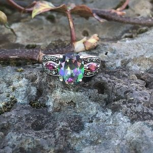 NEW! Rainbow Topaz Ring